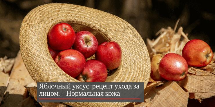 Яблочный уксус рецепт ухода за лицом – нормальная кожа