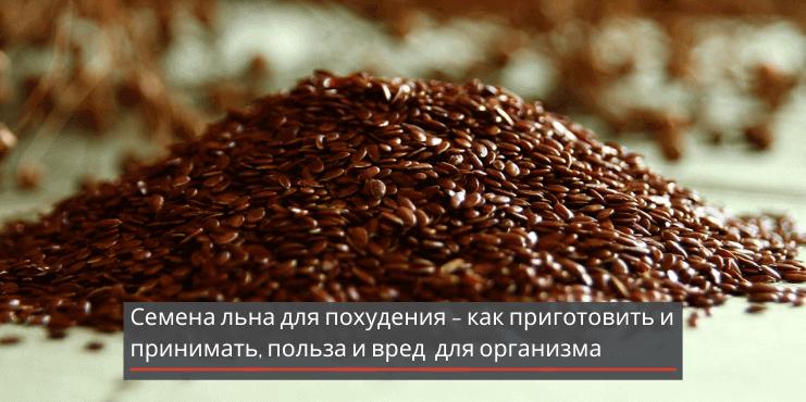 Семена льна для похудения – как приготовить и принимать, польза и вред для организма