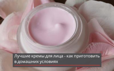Лучшие кремы для лица — как приготовить в домашних условиях + видео
