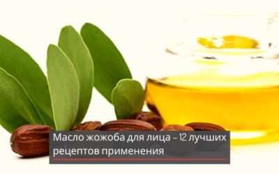 Масло жожоба для лица – 12 лучших рецептов применения
